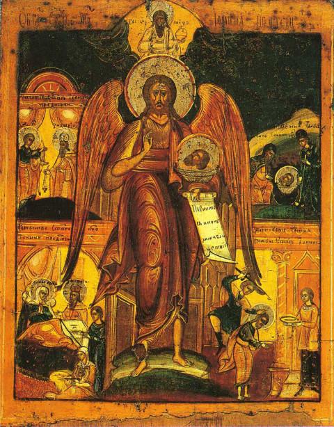 Иоанн Предтеча — Ангел пустыни, со сценами жития, последняя треть XIX века