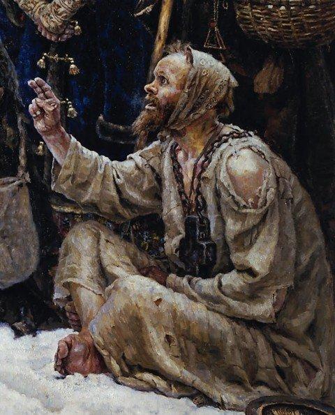 Суриков В.И., «Боярыня Морозова», 1887 год, фрагмент