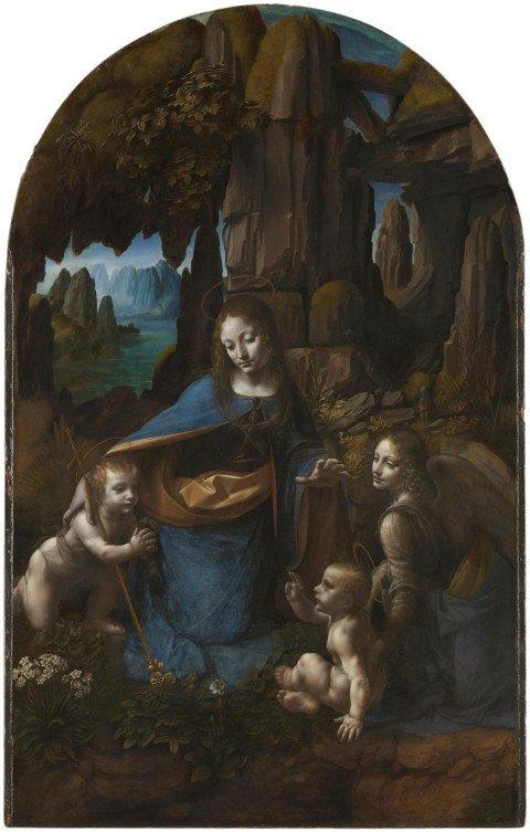 Леонардо да Винчи, Мадонна в скалах, 1483—1486