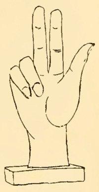 Mano Pantea («рука всех богов»), амулет, Помпеи, I век нашей эры